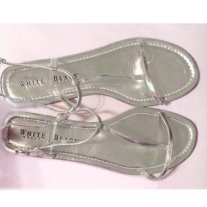 White House Black Market flat slingback sandals